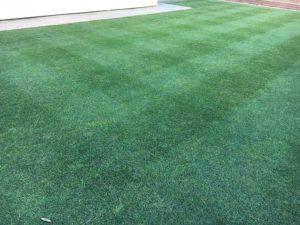 Pattern lawn mowing