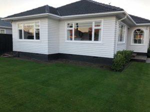 Regular residential lawn mowing