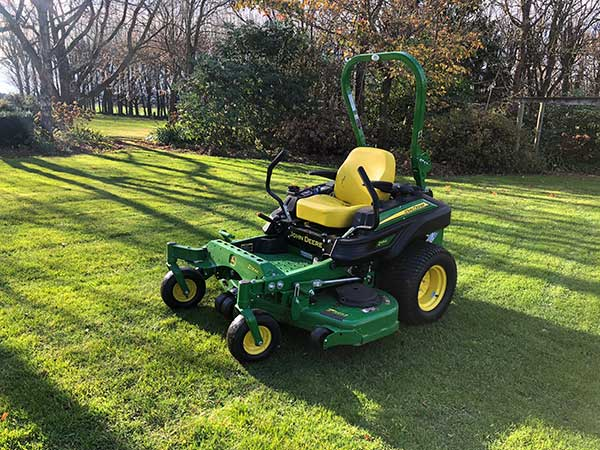 Large lawn maintenance with our ride on lawn mower